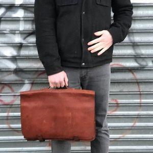 Vintage Brown Edelman Leather Briefcase
